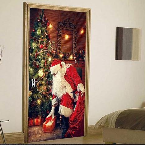 Decorazioni Natalizie Per Ufficio.Yinger Murales Per Foto 3d Babbo Natale Albero Di Natale