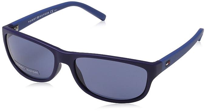 Tommy Hilfiger Gafas de sol, Azul (Matte Blue Blue Jeans ...