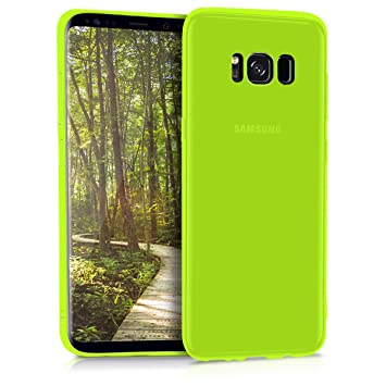 kwmobile Funda para Samsung Galaxy S8 - Carcasa para móvil en TPU Silicona - Protector Trasero en Amarillo neón