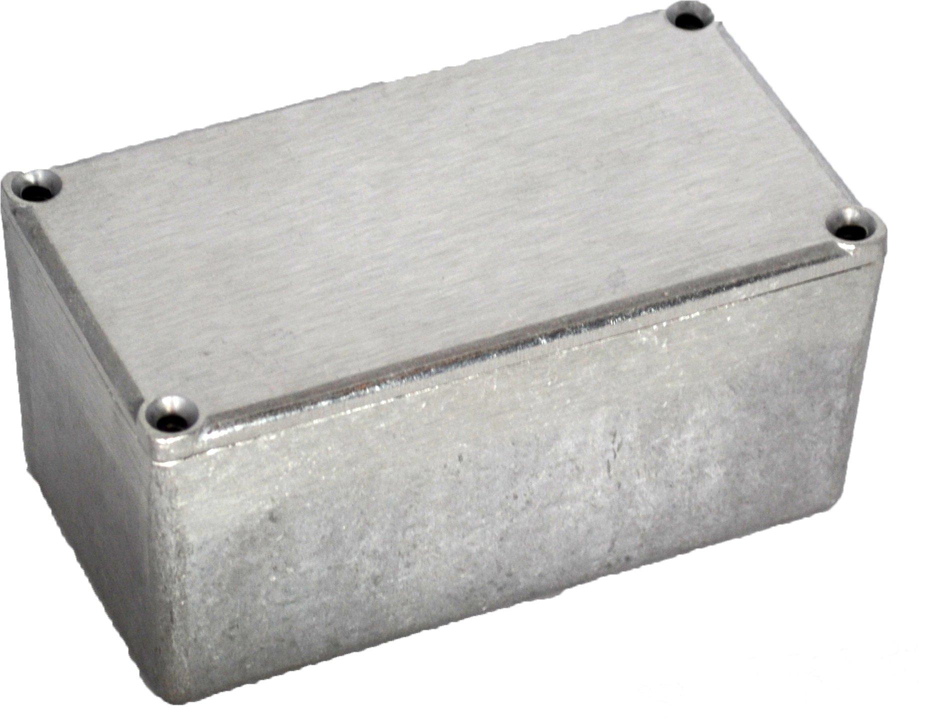 BUD Industries CU-479 Aluminum Econobox, 4-23/64'' Length x 2-23/64'' Width x 2-1/8'' Height, Natural Finish