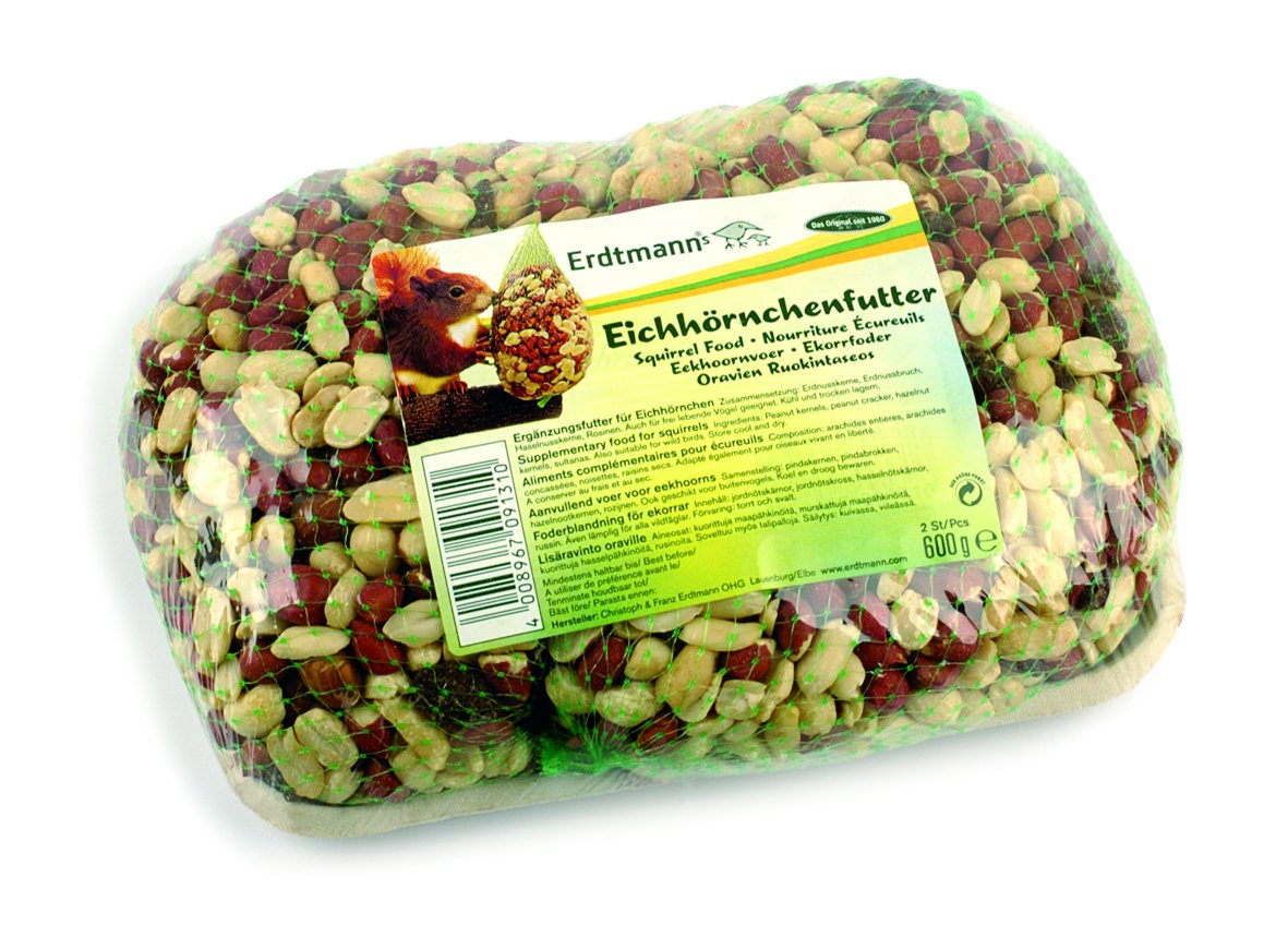 Erdtmanns Squirrel Food, 600 g Squirrel Food in net