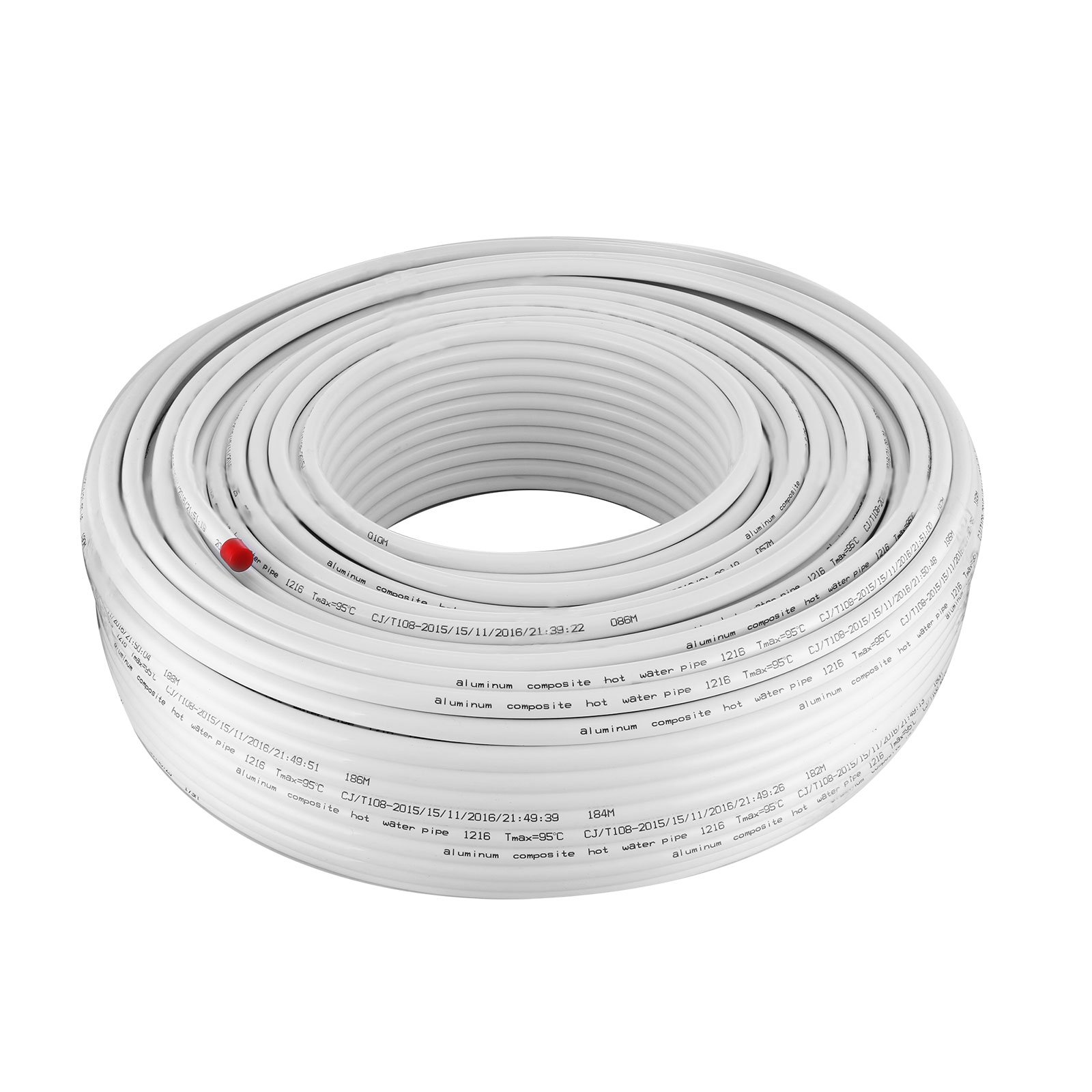 Mophorn PEX AL PEX Tubing 1/2 Inch Roll of 656 Ft 200 M Radiant Heat Tubing Nontoxic for Heating and Plumbing Hot and Cold Water Piping Radiant Floor PEX Al Tubing White by Mophorn (Image #9)