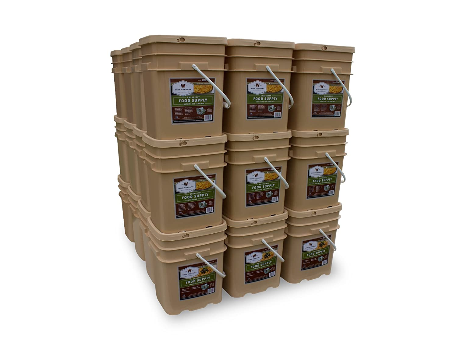 Amazon.com  Wise Company 4320 Serving Package (744-Pounds 36-Buckets)  C&ing Freeze Dried Food  Sports u0026 Outdoors  sc 1 st  Amazon.com & Amazon.com : Wise Company 4320 Serving Package (744-Pounds 36 ...