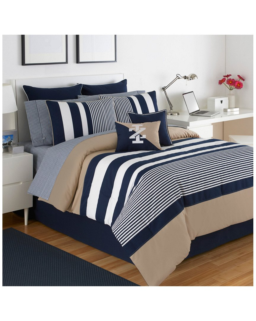 amazoncom izod classic stripe comforter set home  kitchen -