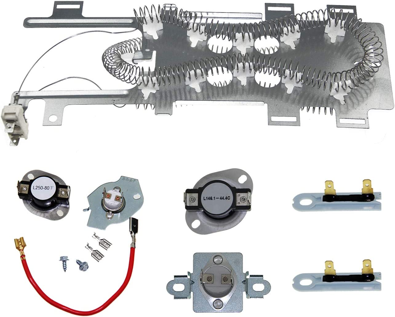 8544771 Dryer Heating Element and 279816 Thermostat Dryer and 279973 3392519 Thermal Fuse Replacement Kit Compatible with Whirlpool,Maytag, Kenmore, and More
