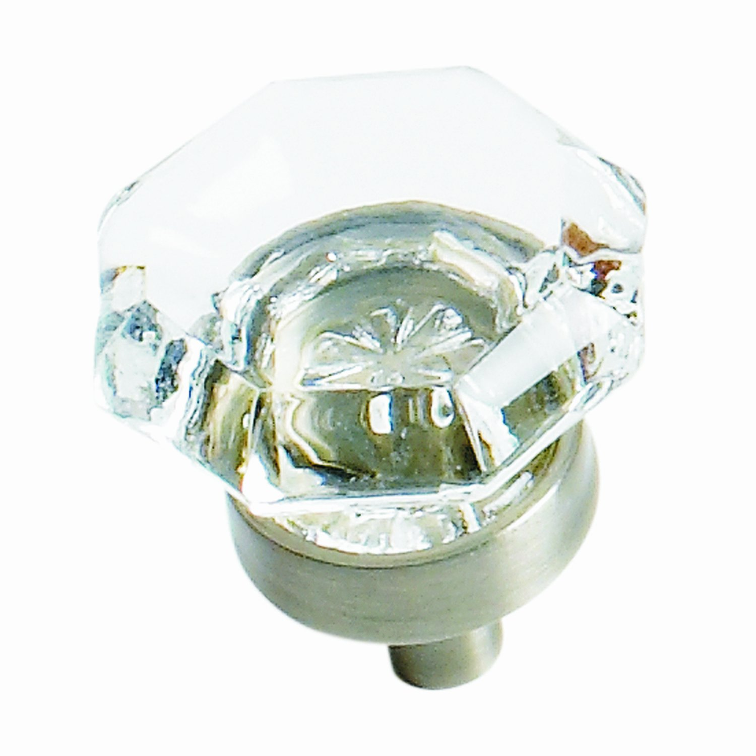 Amerock BP55266CG10 Traditional Classics Clear Glass Knob With Base, Satin  Nickel, 1 Inch   Cabinet And Furniture Knobs   Amazon.com