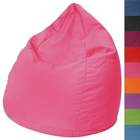Miadomodo – Sillón (Asiento) Puff en Color Rosa y tamaño L (Aprox. 65/90 cm)