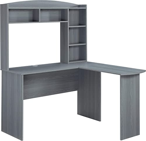 Techni Mobili Modern Hutch L-Shaped Computer Desk