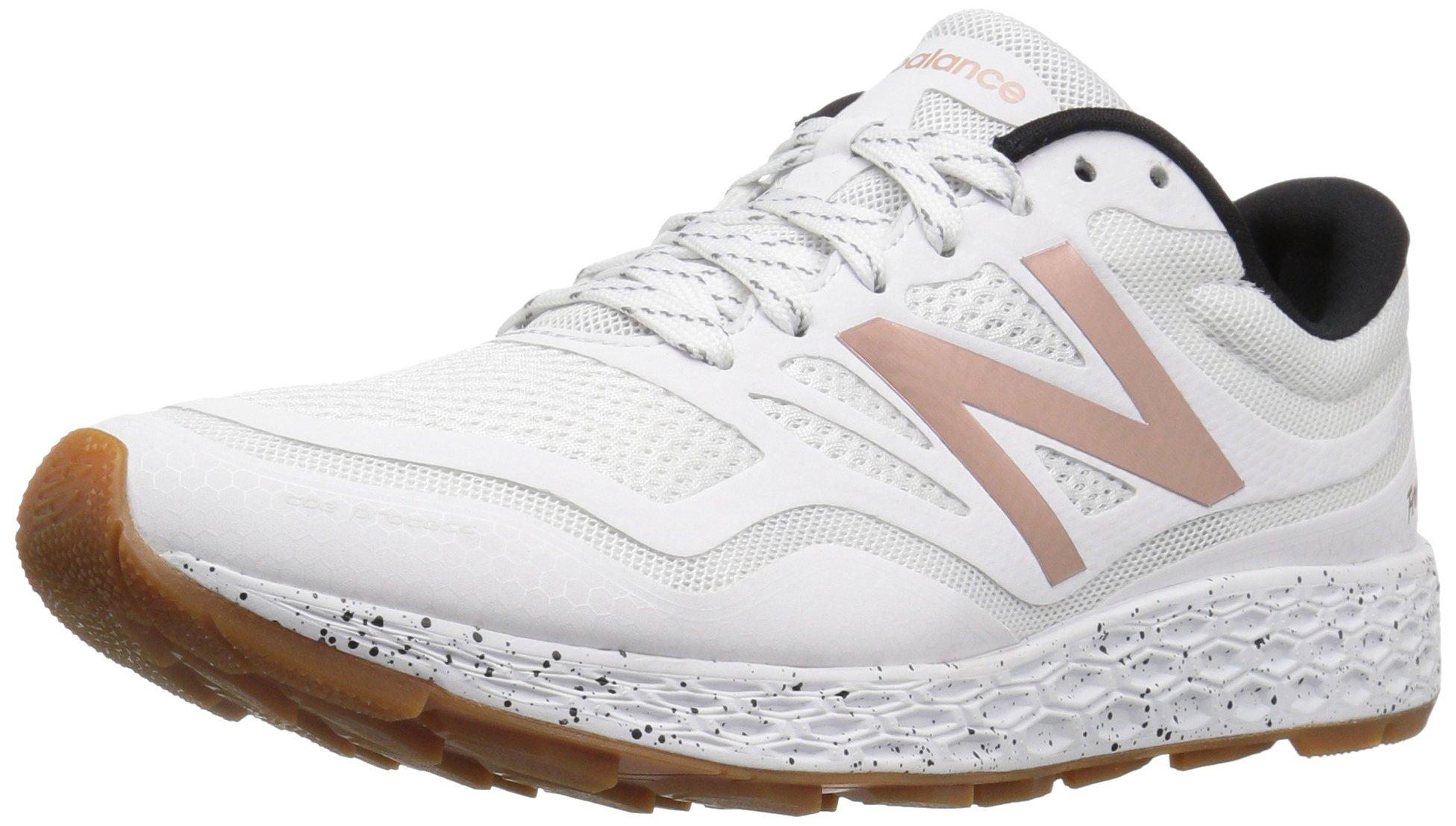 New Balance Women's Fresh Foam GOBI Trail Running Shoe, White/Rose Gold, 9 B US
