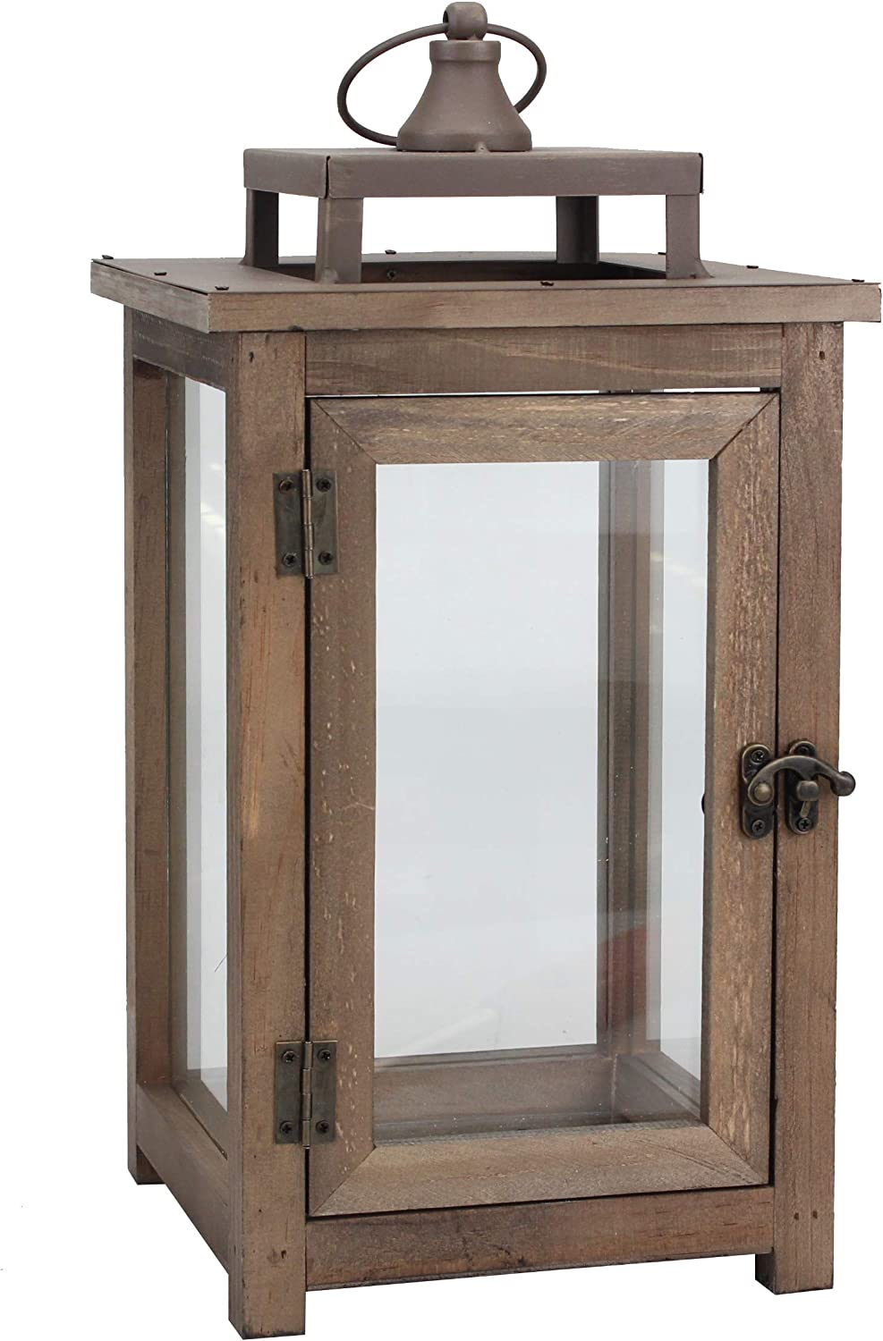 Stonebriar Decorative Wooden Candle Lantern, Use As Decoration for Birthday Parties, a Rustic Wedding Centerpiece, or Create a Relaxing Spa Setting, for Indoor or Outdoor Use, Large