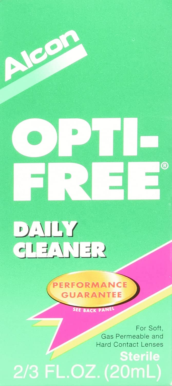 Opti-Free Daily Cleaner for Contact Lenses, 2/3 Fl Oz, 2 Count