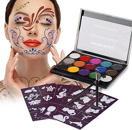 XPASSION Kit de Pintura Facial. Set de Maquillaje, Pinturas ...