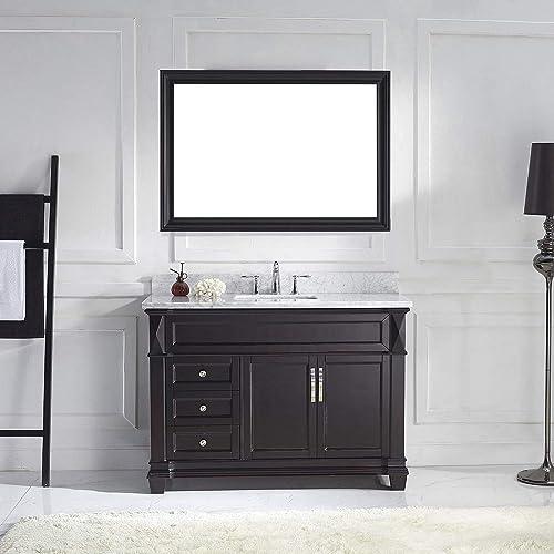 Virtu USA MS-2648-WMSQ-ES Victoria Transitional Single Sink Bathroom Vanity Set, 48 inches, Dark Espresso
