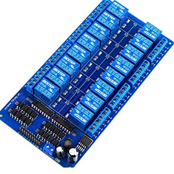 Amazon com: 16 Channel 24V Relay Module Board with