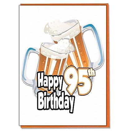 Tarjeta de 95 cumpleaños - cerveza pinta - hombre - nieto ...