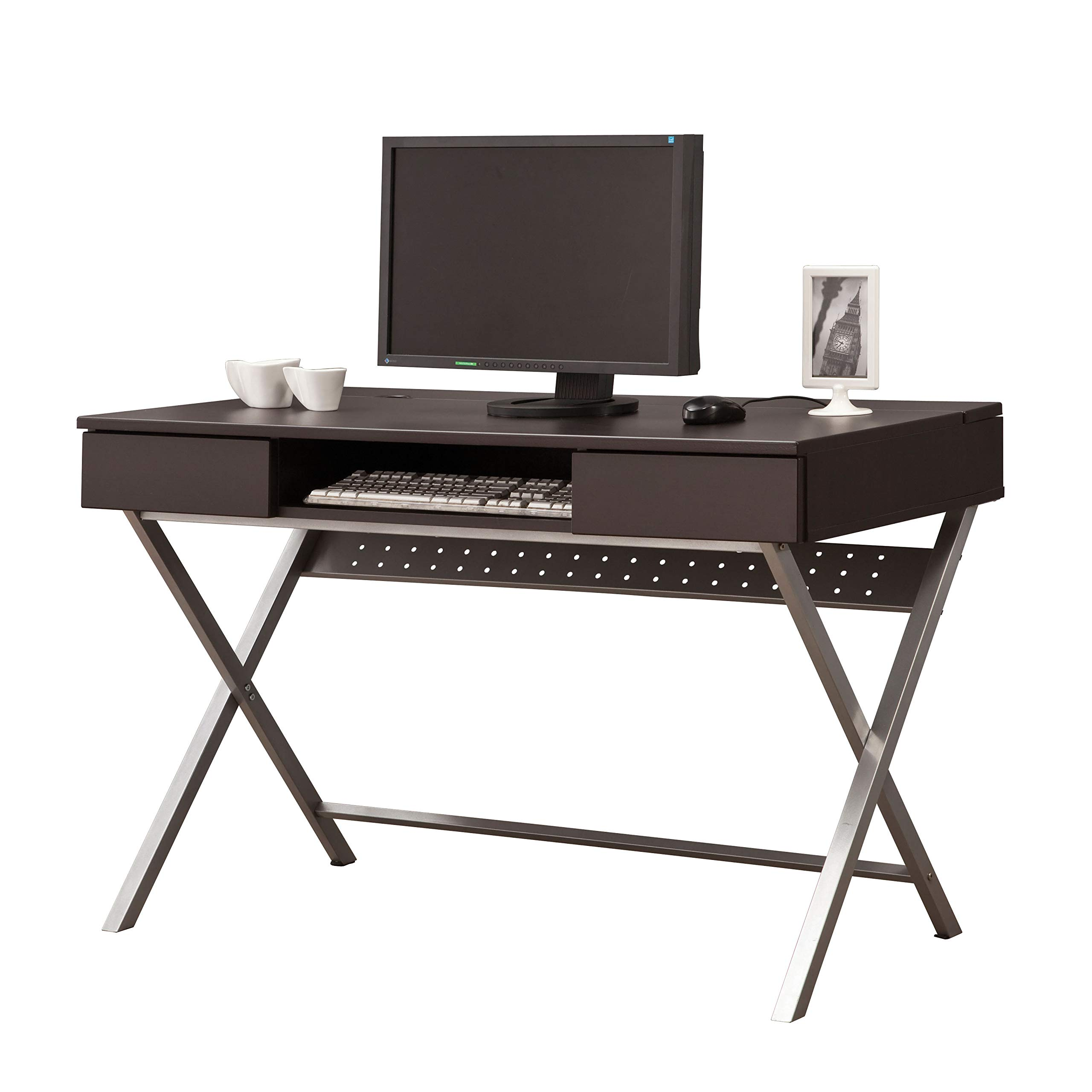 Coaster Home Furnishings Connect-It Writing Desk with Built-in Outlet/Storage Compartment Cappuccino by Coaster Home Furnishings