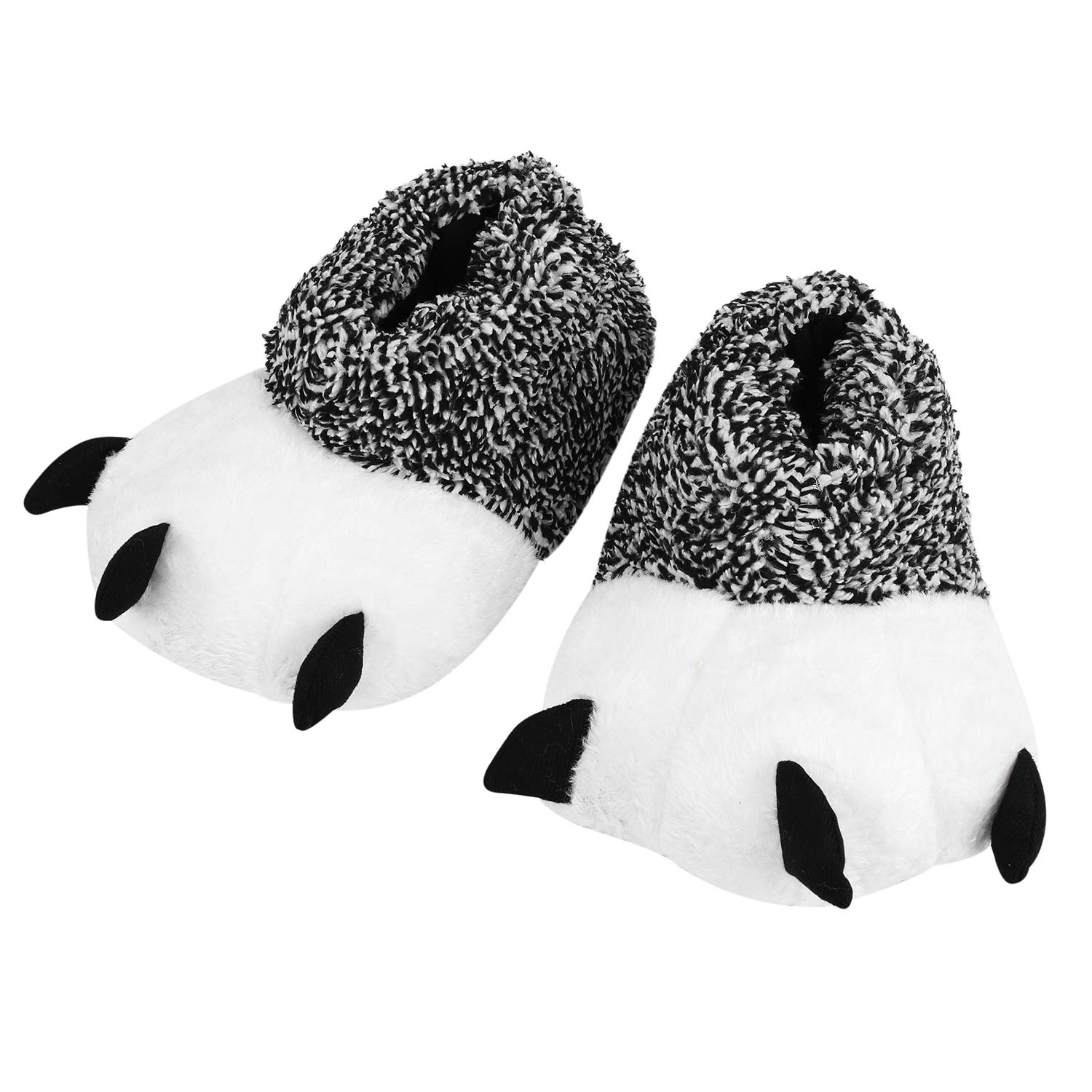 Women Men Kids Slippers Claws Cotton Soft Plush Winter Warm Indoor Home Shoes