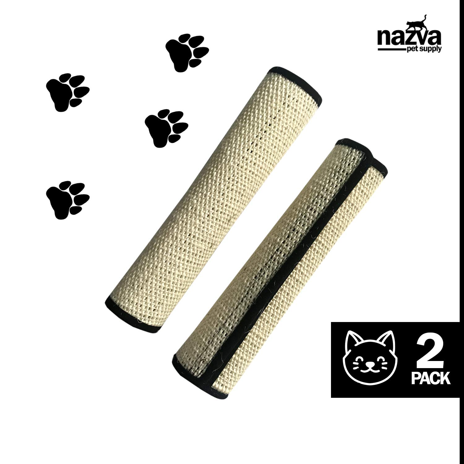 Cat Scratching Mat with Velcro - 2 Pack - Cat Furniture Protection Warping Around Sofa, Table, Chair, Couch
