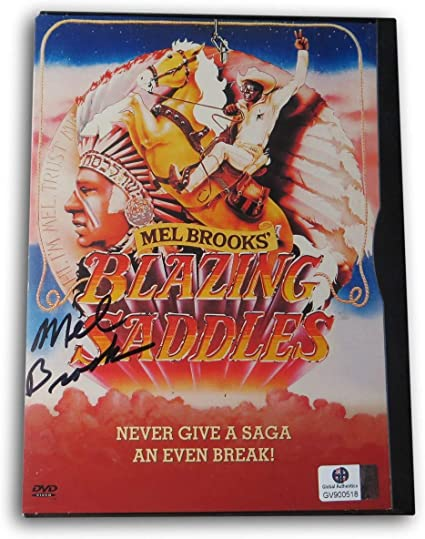 Mel Brooks Signed Autographed DVD Cover Blazing Saddles GV900518 ...