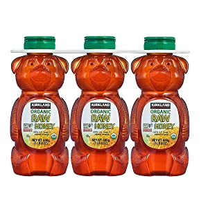 Kirkland Signature Organic Raw Honey Bear, 24 oz, 3 ct