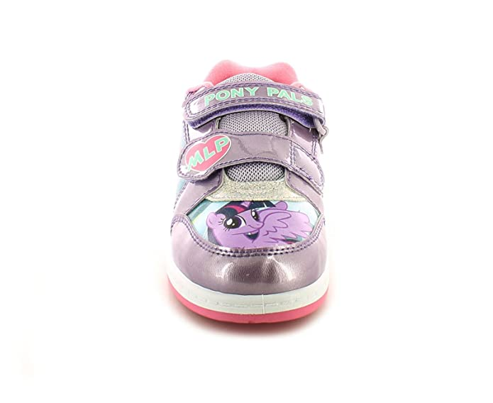 My Little Pony New Girls White Sythetic Leather Touch Fastening Trainers -  White/Purple/Multi - UK Size 6: Amazon.co.uk: Shoes & Bags