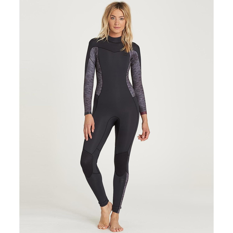 Billabong Womens Synergy 3//2 Back Zip Sealed Seam Full Wetsuit