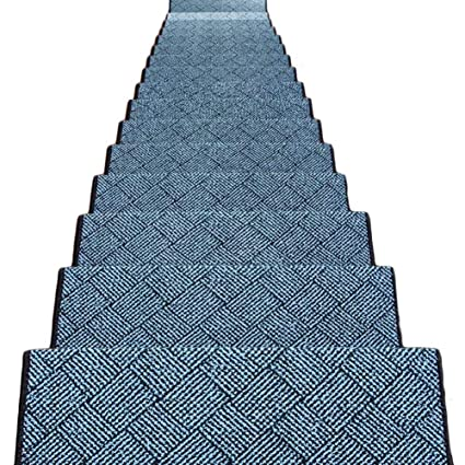 Lixiong Staircase Rugs Stairs Carpet Step Pad 5 Pieces Self Adhesive