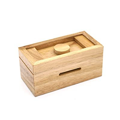 A Gift Cash Box with Secret Compartments in Designs of Wood for Money Puzzle Gift Boxes to be a Surprise Money Wooden Box Holder and Challenging Puzzle Brain Teasers for Adults and Kids: Toys & Games