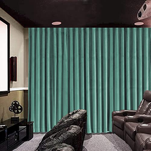 cololeaf Extra Long Velvet Blackout Lined Home Movie Theater Curtain Drapes Panel