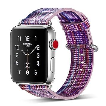 DIPOLA Correa de Reloj Bandas de Reemplazo para Apple Watch Series 1/2/3 38mm de Correas de Moda: Amazon.es: Deportes y aire libre