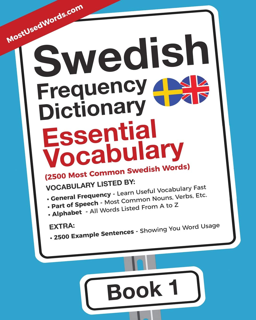 Swedish Frequency Dictionary   Essential Vocabulary  2500 Most Common Swedish Words  Swedish English Band 1
