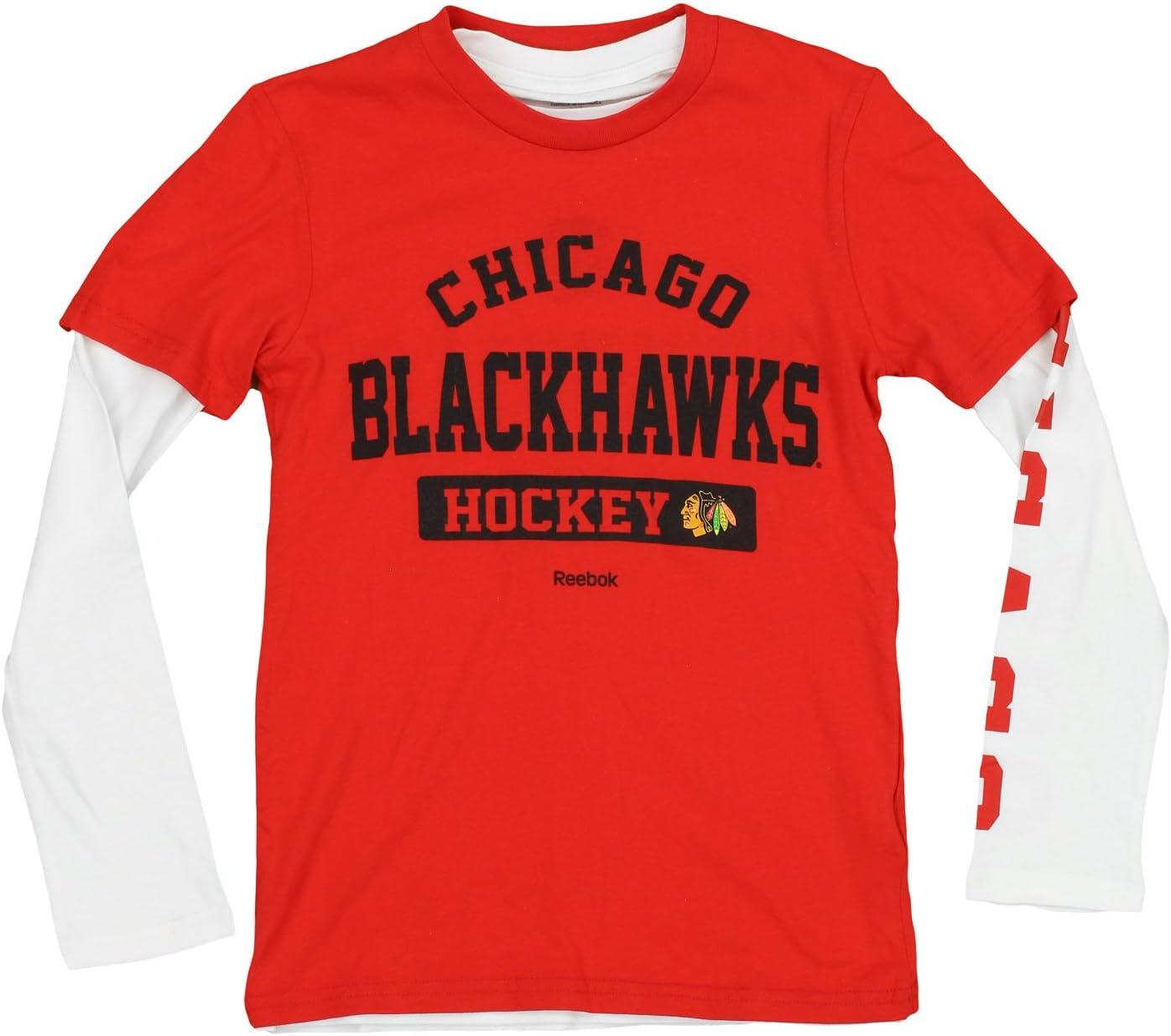 NHL Boys Youth (8 – 20 ) 3 in 1 Tシャツコンボセット長袖と半袖Tシャツセット、チームオプション