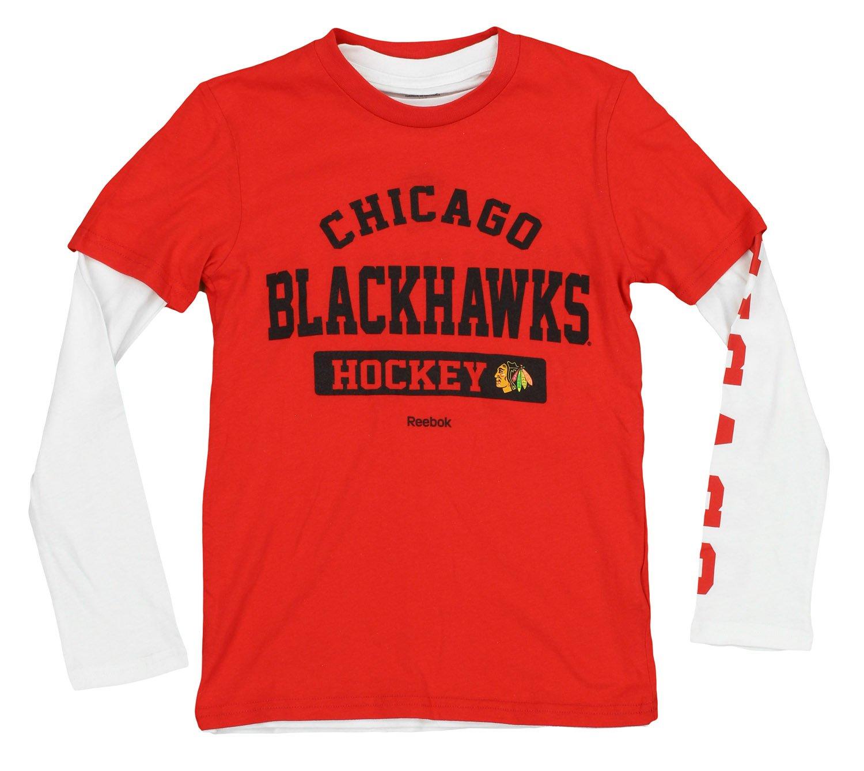 人気ブランドの NHL Boys Youth 3 ( 8 – 20 ) 8 3 Boys in 1 Tシャツコンボセット長袖と半袖Tシャツセット、チームオプション Medium (10/12) シカゴブラックホークス B071V4GBWQ, インテリアの壱番館:73c99e7d --- a0267596.xsph.ru