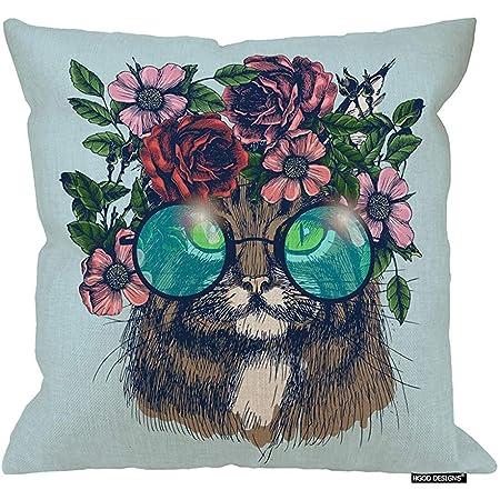 Marlon Kitty Funda de Almohada para Gatos, Retrato de Gato Maine ...