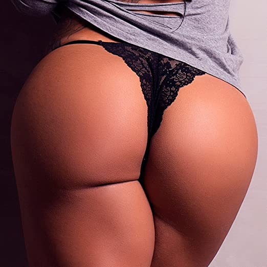 Roza Carmen Black Lace Thong RCBLTHONG