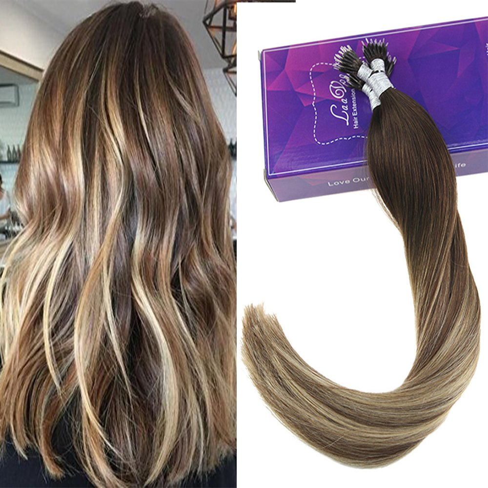 Amazon Laavoo 18 Cold Fusion Real Hair Extensions Highlight