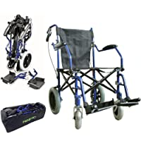 Deluxe silla de ruedas plegable de peso ligero