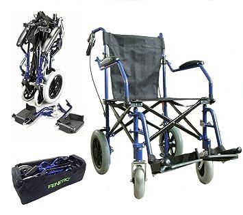 Deluxe silla de ruedas plegable de peso ligero en una bolsa ...