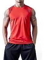 ティーシャツドットエスティー Tシャツ ドライ ノースリーブ 無地 薄手 3.4oz メンズ