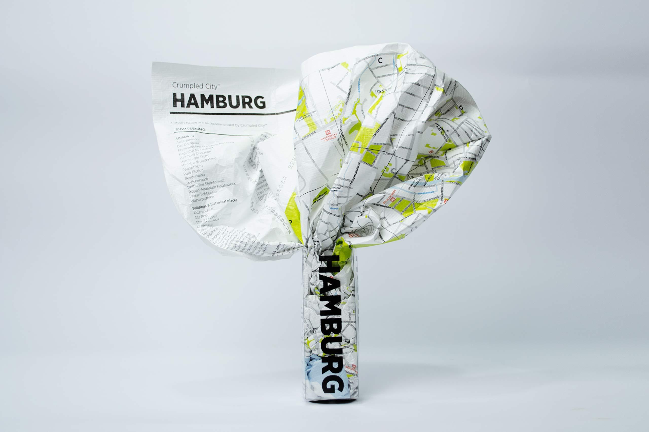 Crumpled City  Hamburg. Soft City Maps For Urban Jungles  Crumpled City Maps