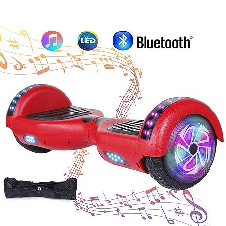 """Huanhui Hoverboard Ruedas de 6.5"""" Patinete Eléctrico Scooter, Potente batería de Litio 2 *"""