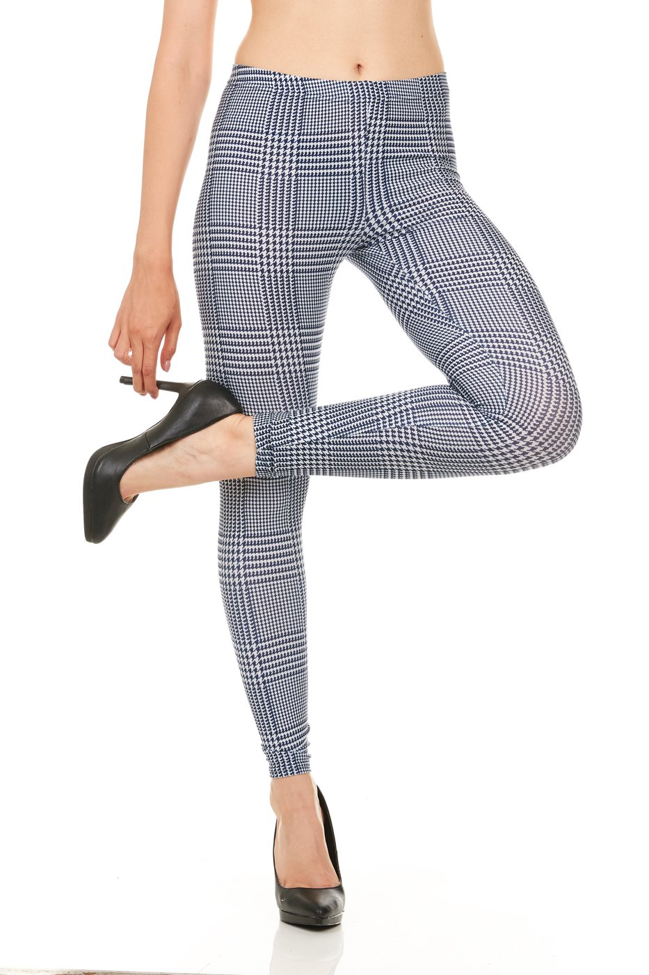 Carnival Women's Full-Length Printed Soft Microfiber Legging, Blue Menswear, X-Large