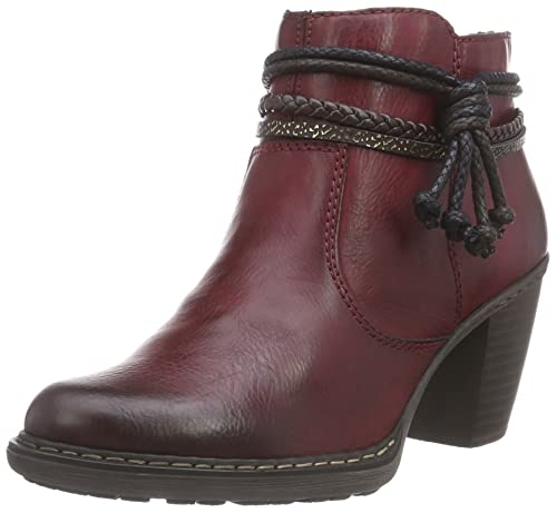 5983265565b9 Rieker Women s 55298 Ankle Boots Red (Burgundy 35) 6 UK 39 EU
