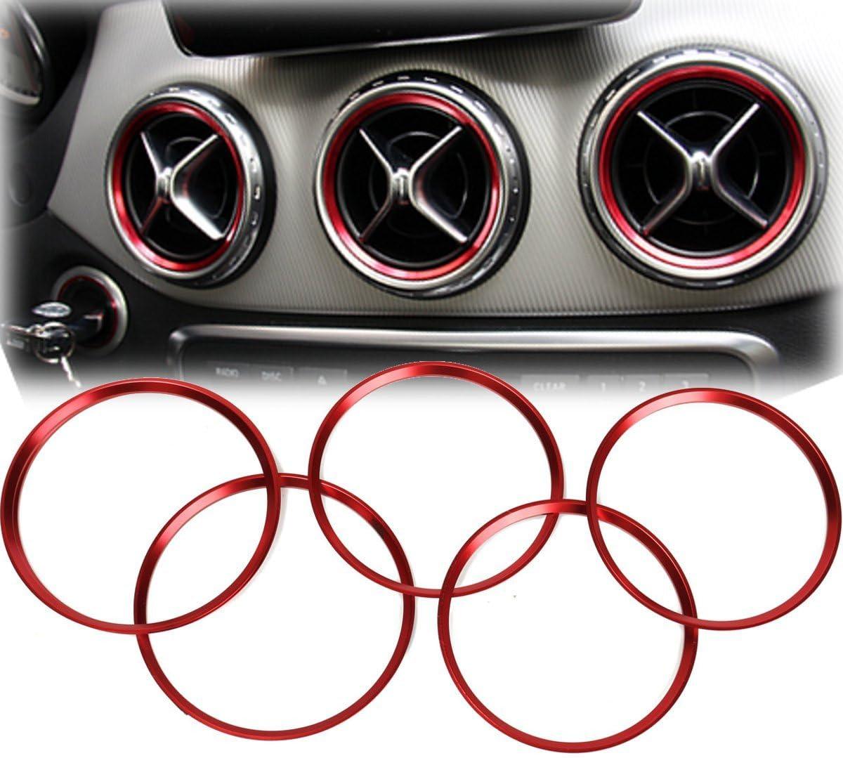 Alamor Anillo Decorativo 5Pcs Air Outlet para Mercedes Benz A Clase A180 A200 A250 W176