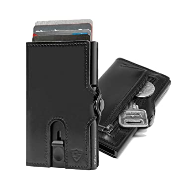 cheap for discount bb991 5838c Card Blocr Credit Card Wallet | Best Minimalist Wallet RFID Blocking |  Zipper Compartment Coin Key on 2019 Models