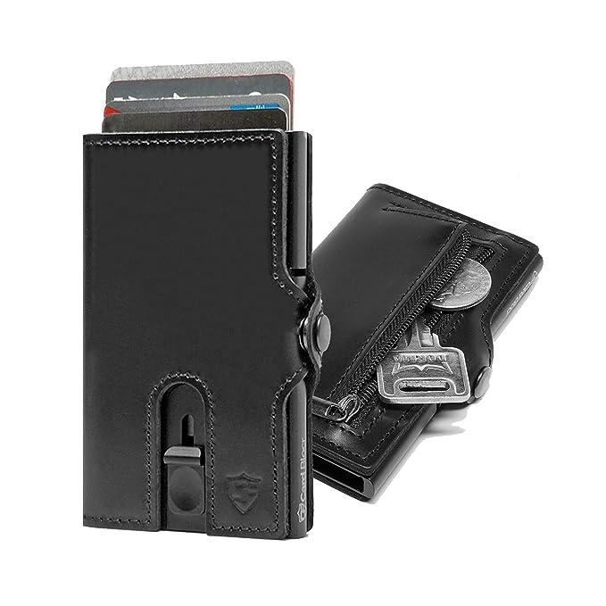 Amazon.com: billetera con bloqueo RFID de tarjeta, funda de ...