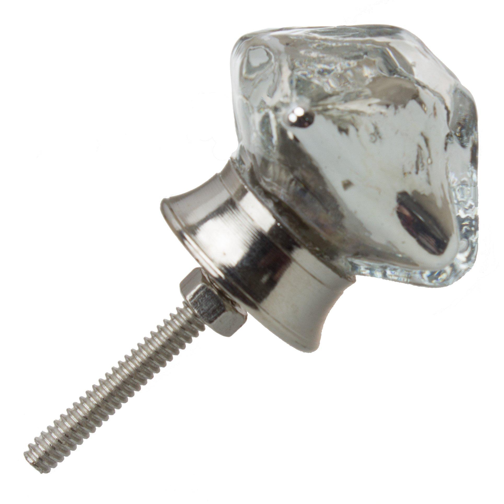 GlideRite Hardware 231010-M-25 Pyramid Mercury Glass Cabinet Knobs, 25 Pack, 1.25'', Silver Vintage Mercury Glass by GlideRite Hardware (Image #2)