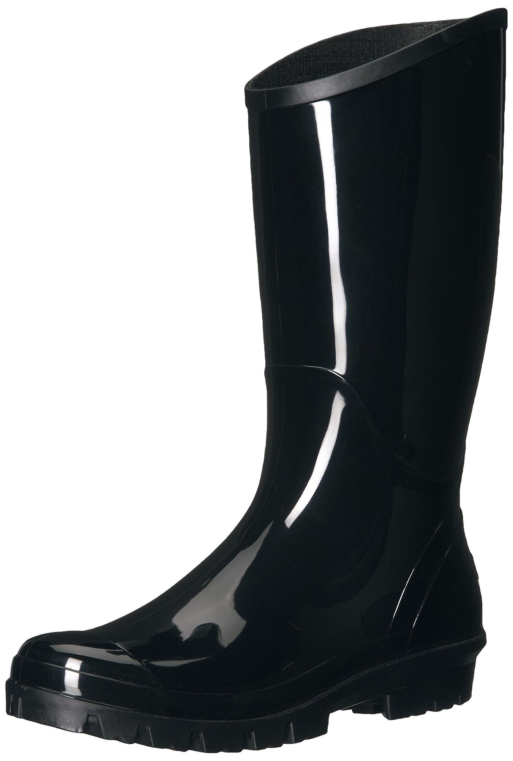 Columbia Women's Rainey Tall Rain Boot, Black, Monument, 8 B US