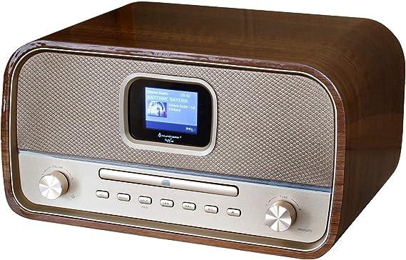 Equipo DE Audio Retro con with Dab+/FM, CD/MP3, USB, Bluetooth Y Color Display