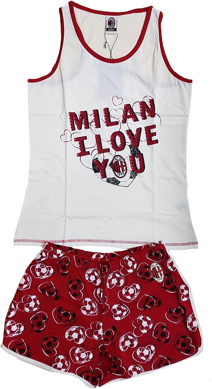 02839 Pyjama sans manches Milan Femme Maillot et short I Love You